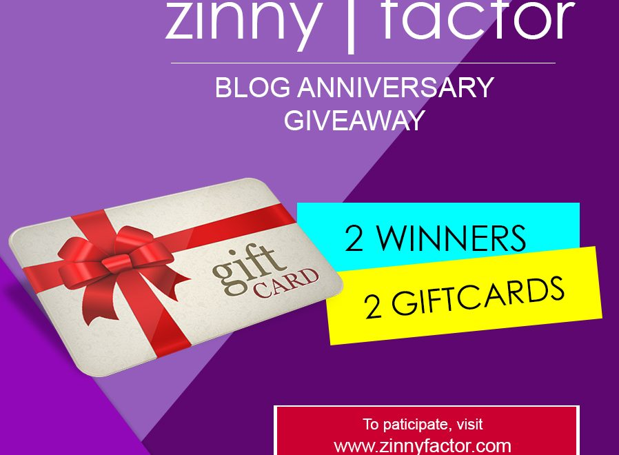 Zinny Factor Turns One + One Year Anniversary Giveaway!