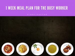 1 Week Meal Plan for the Busy Worker